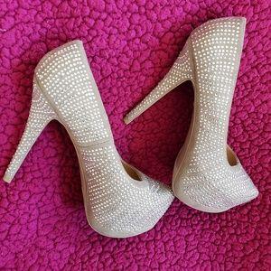 "Xhilaration 5"" Rhinestone heels"